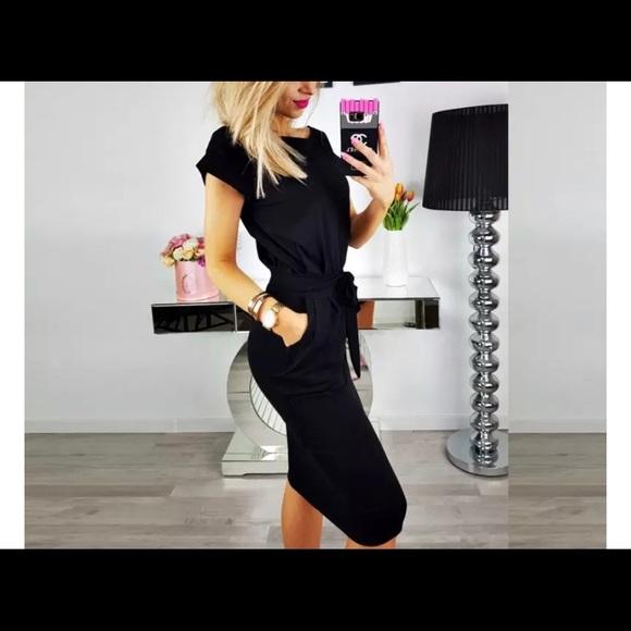 Glitz and Glam Dresses & Skirts - Little Black T-Shirt Dress